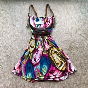 NWT Sky Patterned and Belted Dress